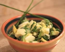 סלט אבוקדו, ביצה קשה ועירית1