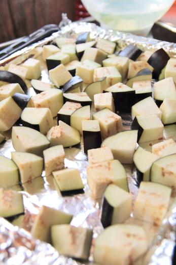 חצילים בתנור שלב ג